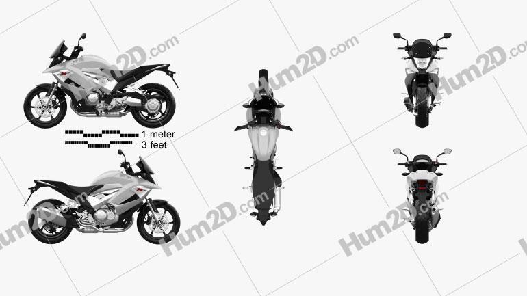Honda VFR800X Crossrunner 2011 Clipart Image