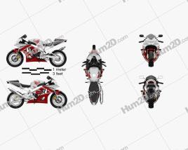Honda CBR929RR 2000 Motorcycle clipart