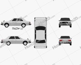 Honda Accord sedan 1977 car clipart