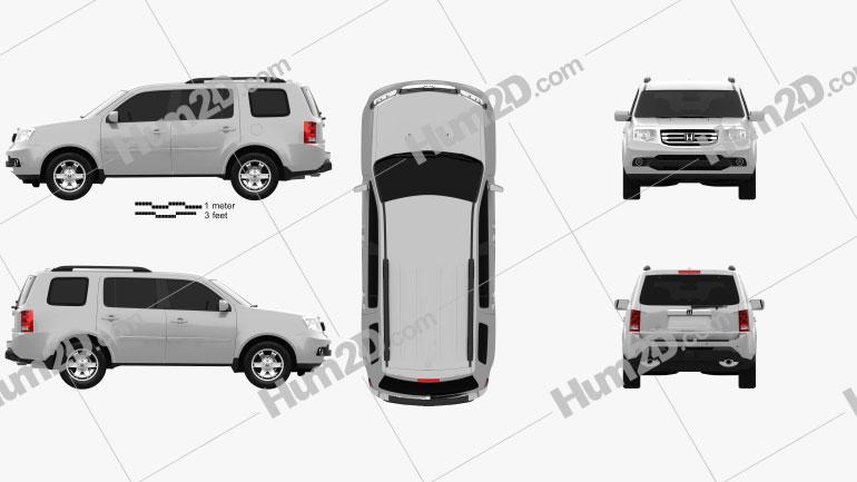 Honda Pilot 2011 car clipart