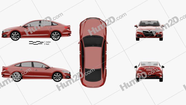Honda Spirior concept 2014 Clipart Image