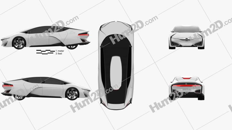 Honda FCEV 2013 car clipart