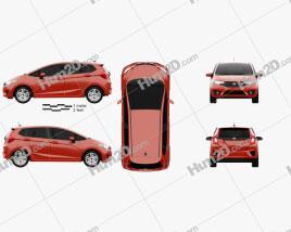 Honda Fit US-spec 2014 Clipart