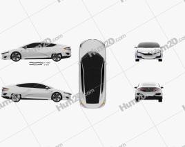 Honda FCV 2015 Clipart