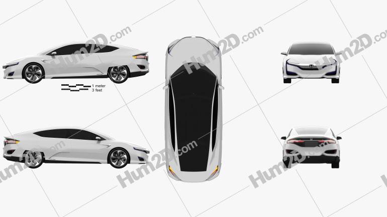 Honda FCV 2015 Clipart Image