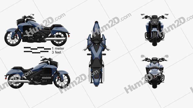 Honda Valkyrie GL1800C 2015 Moto clipart