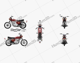 Honda CB 750 Four 1969 Motorcycle clipart
