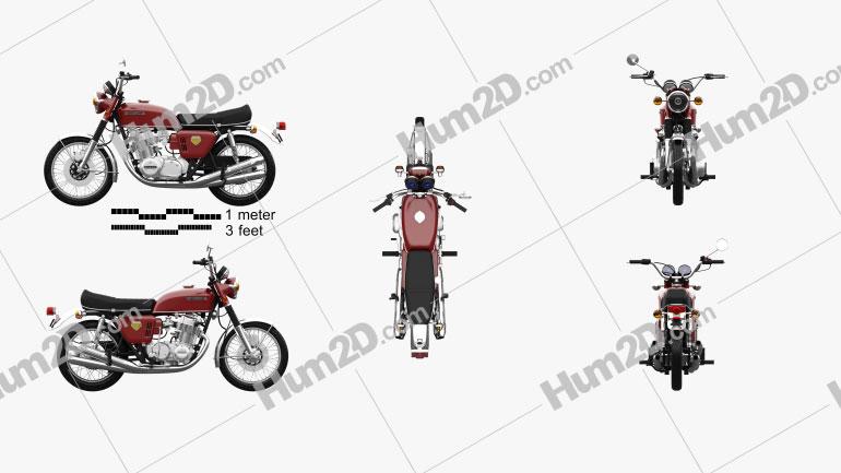 Honda CB 750 Four 1969 Motorrad clipart