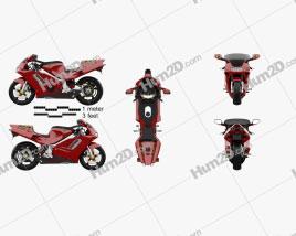 Honda NR 1992 Motorcycle clipart