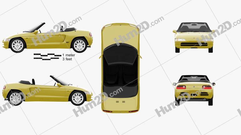 Honda Beat (PP1) 1991 car clipart