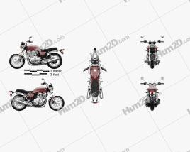 Honda CB 1100 2010 Motorcycle clipart