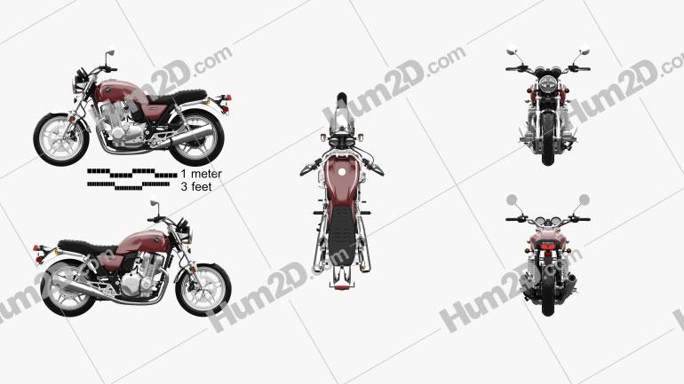 Honda CB 1100 2010 Motorrad clipart