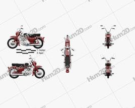 Honda CA72 Dream 1962 Motorcycle clipart