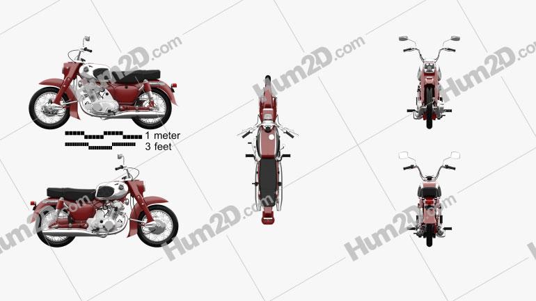Honda CA72 Dream 1962 Motorrad clipart