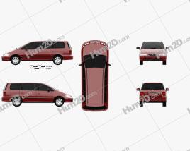Honda Odyssey (RA1) 1994 clipart