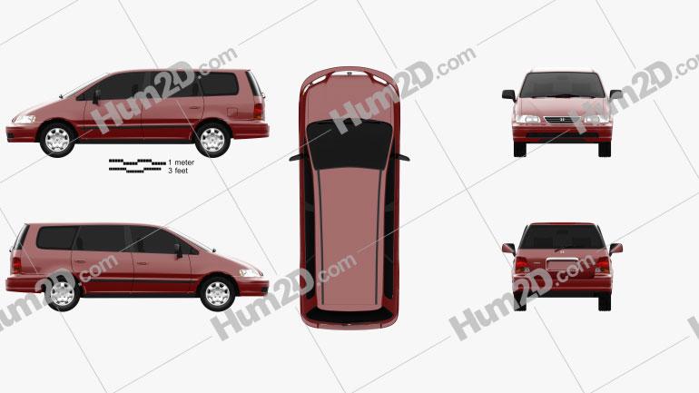 Honda Odyssey (RA1) 1994 Clipart Image