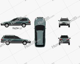 Honda Orthia (EL3) 1996 car clipart