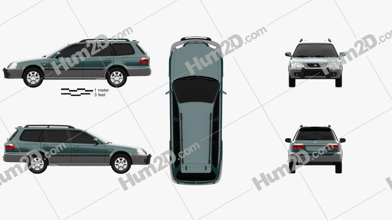 Honda Orthia (EL3) 1996 Clipart Image
