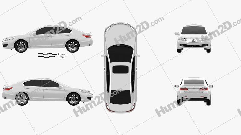 Honda Accord (CN) 2013 Imagem Clipart