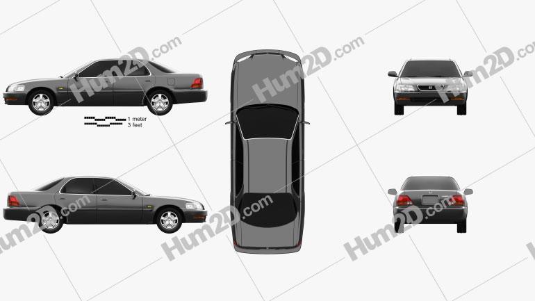 Honda Saber (UA1) 1995 car clipart