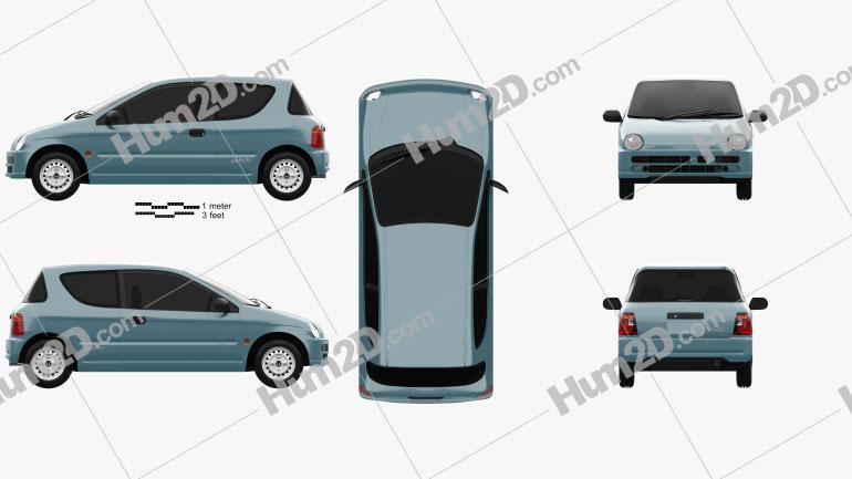 Honda Today (JA4) 1996 Clipart Image