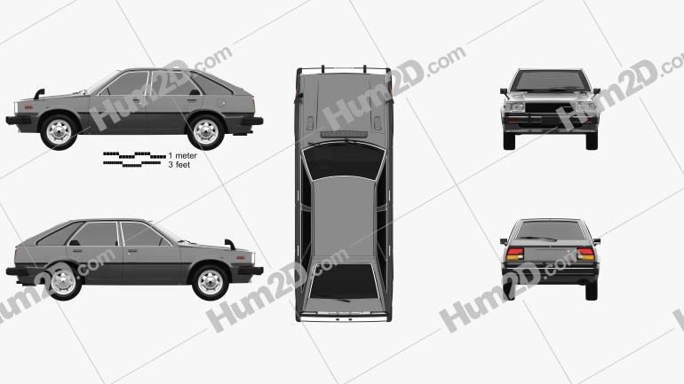 Honda Quint 1980 car clipart