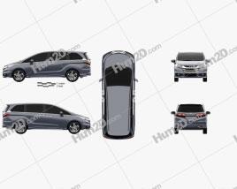 Honda Odyssey Absolute 2013 clipart