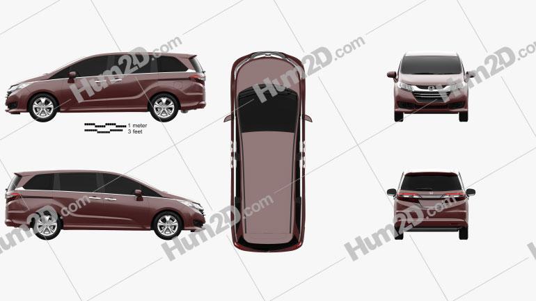 Honda Odyssey G (JP) 2014 clipart