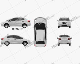 Honda Brio Amaze 2012 car clipart