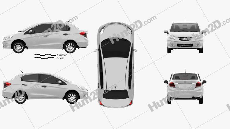 Honda Brio Amaze 2012 Clipart Bild