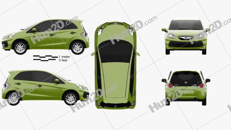 Honda Brio 2012 car clipart