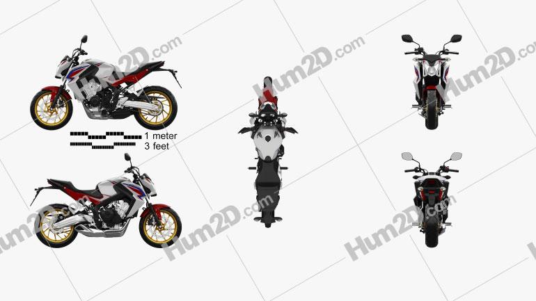 Honda CB 650F 2015 Motorcycle clipart