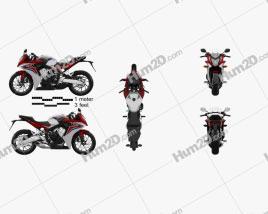 Honda CBR650F 2015 Motorcycle clipart