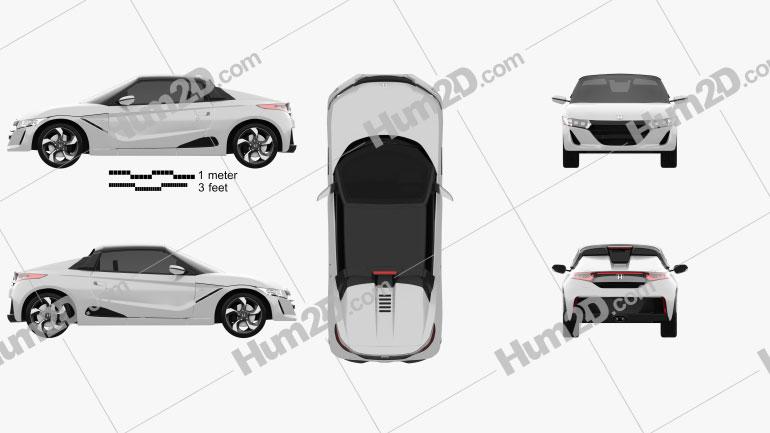Honda S660 2015 car clipart