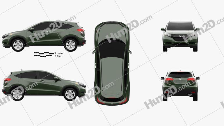 Honda HR-V LX 2015 car clipart
