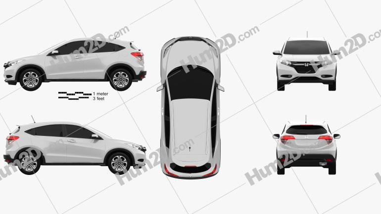 Honda HR-V EX-L (BR) 2015 car clipart
