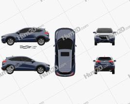 Honda HR-V EX-L 2015 car clipart