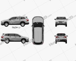 Honda Pilot LX 2016 car clipart