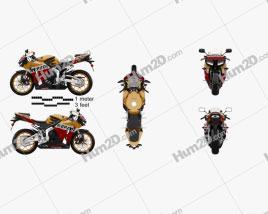 Honda CBR600RR 2015 Motorrad clipart