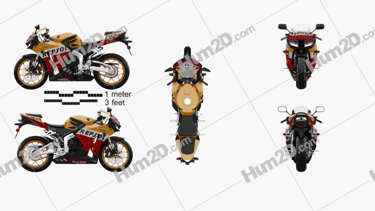 Honda CBR600RR 2015 Motorcycle clipart