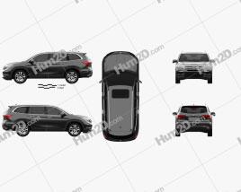 Honda Pilot Elite 2016 car clipart