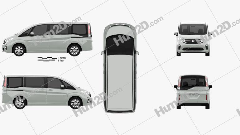 Honda Stepwgn 2015 clipart