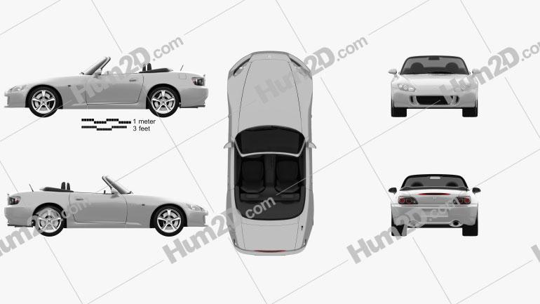 Honda S2000 2008 car clipart