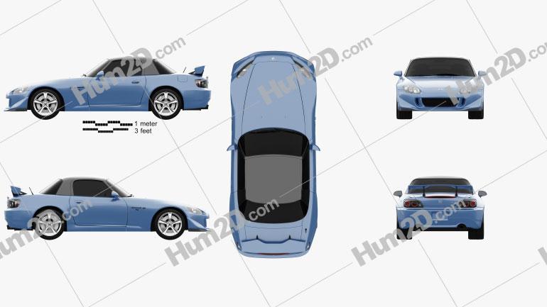 Honda S2000 CR 2008 car clipart
