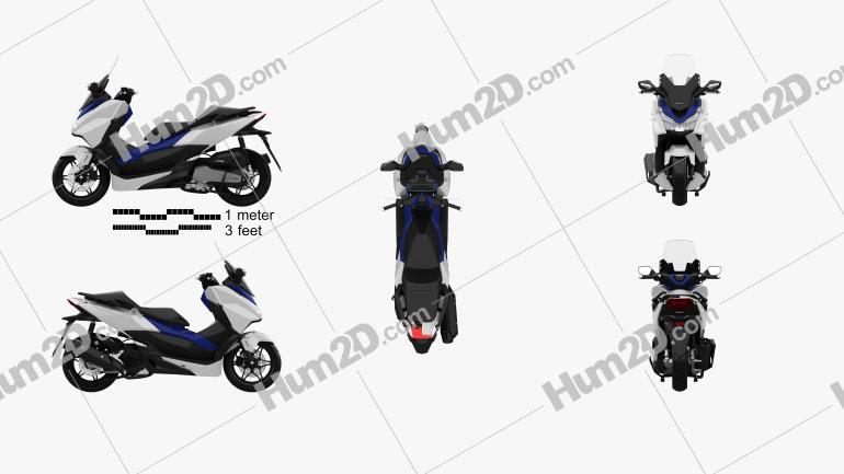 Honda Forza 125 2015 Motorcycle clipart
