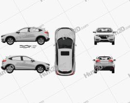Honda HR-V EX-L with HQ interior 2015 car clipart