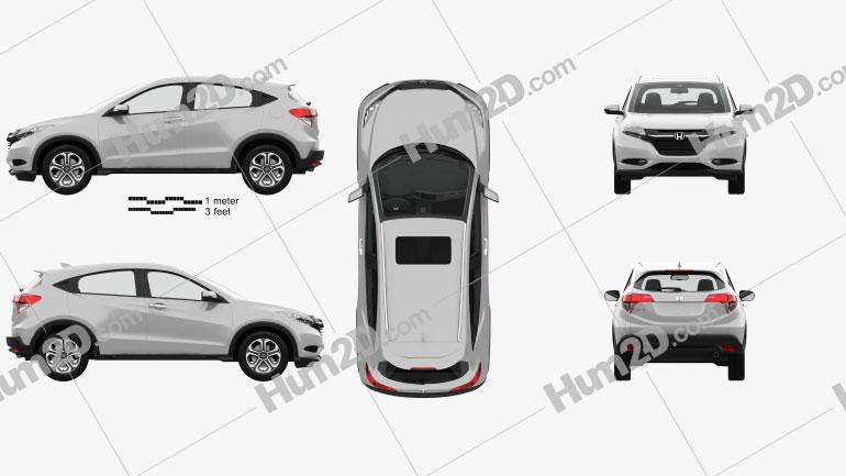 Honda HR-V EX-L com interior HQ 2015 Imagem Clipart