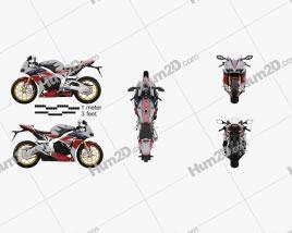 Honda CBR1000RR Fireblade 2016 Motorrad clipart