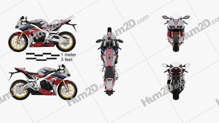 Honda CBR1000RR Fireblade 2016 Clipart Image