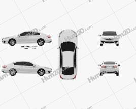Honda Accord LX 2016 car clipart